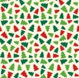 与常青树的无缝的圣诞节样式 皇族释放例证