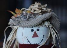 与帽子的被充塞的稻草人 免版税图库摄影