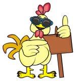 与干净的板材的公鸡 免版税库存图片