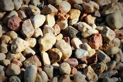 与干燥的抽象背景石头 顶视图 库存图片