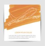 与平面象的卡片设计 免版税图库摄影