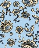 与幻想花的无缝的样式 传染媒介摘要无缝的花卉样式 Lase样式 模板可以为墙纸使用, 免版税图库摄影