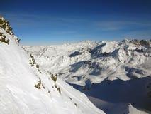 瑞士山景 库存照片