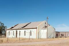 与废墟的街道场面在坎伯 免版税库存照片