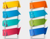 与废弃物的抽象origami演讲泡影。 免版税库存图片