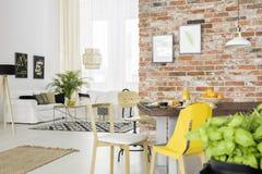 与开放客厅的公寓 库存照片