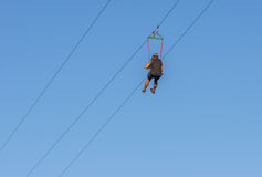 与开放椅子的空中推力在Dnipro市的中心 免版税库存图片
