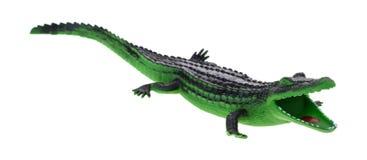 与开放嘴的玩具鳄鱼 库存图片