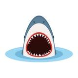 与开放嘴的鲨鱼 库存例证
