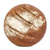 与开胃嘎吱咬嚼的外壳的面包,隔绝在白色背景 免版税库存照片