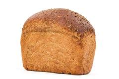 与开胃嘎吱咬嚼的外壳的面包,隔绝在白色背景 库存照片