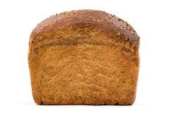 与开胃嘎吱咬嚼的外壳的面包,隔绝在白色背景 库存图片