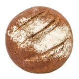 与开胃嘎吱咬嚼的外壳,顶视图的面包,隔绝在白色背景 免版税库存照片
