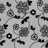 与开花的分支的无缝的鞋带样式 向量例证
