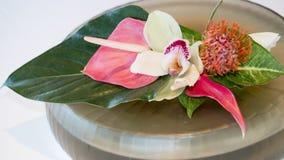 与异乎寻常的花的花束 免版税库存图片
