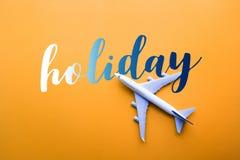 与式样飞机,飞机的假日概念 免版税库存照片