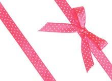 与弓的两条桃红色丝带 图库摄影