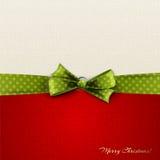 与弓的圣诞节背景 库存照片