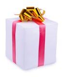 与弓的礼品 免版税库存照片