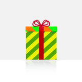 与弓的礼物盒 免版税库存图片