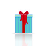 与弓的礼物盒 库存照片