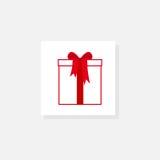 与弓的礼物盒 库存图片