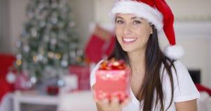 与弓的装饰红色圣诞节礼物 影视素材