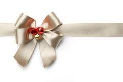 与弓的金丝带 免版税图库摄影