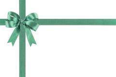 与弓的绿色丝带 图库摄影