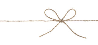 与弓结的绳索 库存照片