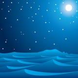 与引起星形的午夜蓝色 图库摄影