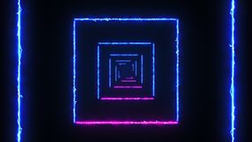 与弧反应器光正方形的抽象背景 当灯光管制线快速地移动 向量例证