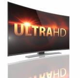 与弯曲的屏幕的UltraHD聪明的电视 向量例证