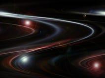 与弯曲的线的红色和黑抽象背景 免版税图库摄影