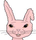 与弯的耳朵的桃红色兔宝宝 库存例证