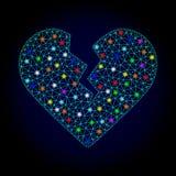 与强光斑点的传染媒介多角形滤网离婚心脏新年 皇族释放例证
