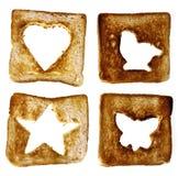 与形状的烘烤面包 免版税图库摄影