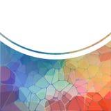 与彩虹几何马赛克的五颜六色的背景 免版税图库摄影