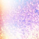 与彩虹滤网的魔术发光的背景 幻想独角兽毕业 免版税库存图片