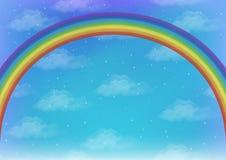 与彩虹的天空 免版税库存照片