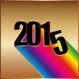与彩虹的新年好2015年 库存图片