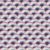 与彩虹的样式 免版税库存照片