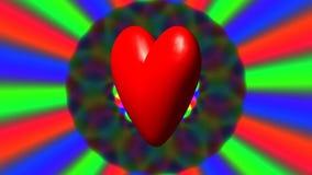 与彩虹的爱心脏挥动无缝的圈 皇族释放例证