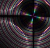 与彩虹盘纹理的抽象分数维背景 免版税库存照片