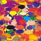 与彩虹难看的东西相交的长圆形的无缝的样式 免版税库存图片