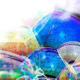五颜六色的肥皂泡 库存图片