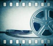与影片小条的老电影胶卷卷轴 库存照片