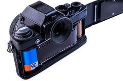 与影片的35MM照相机 库存图片