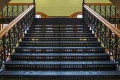 与得克萨斯名星的楼梯 免版税库存照片