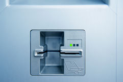 ATM现金点槽孔 库存图片